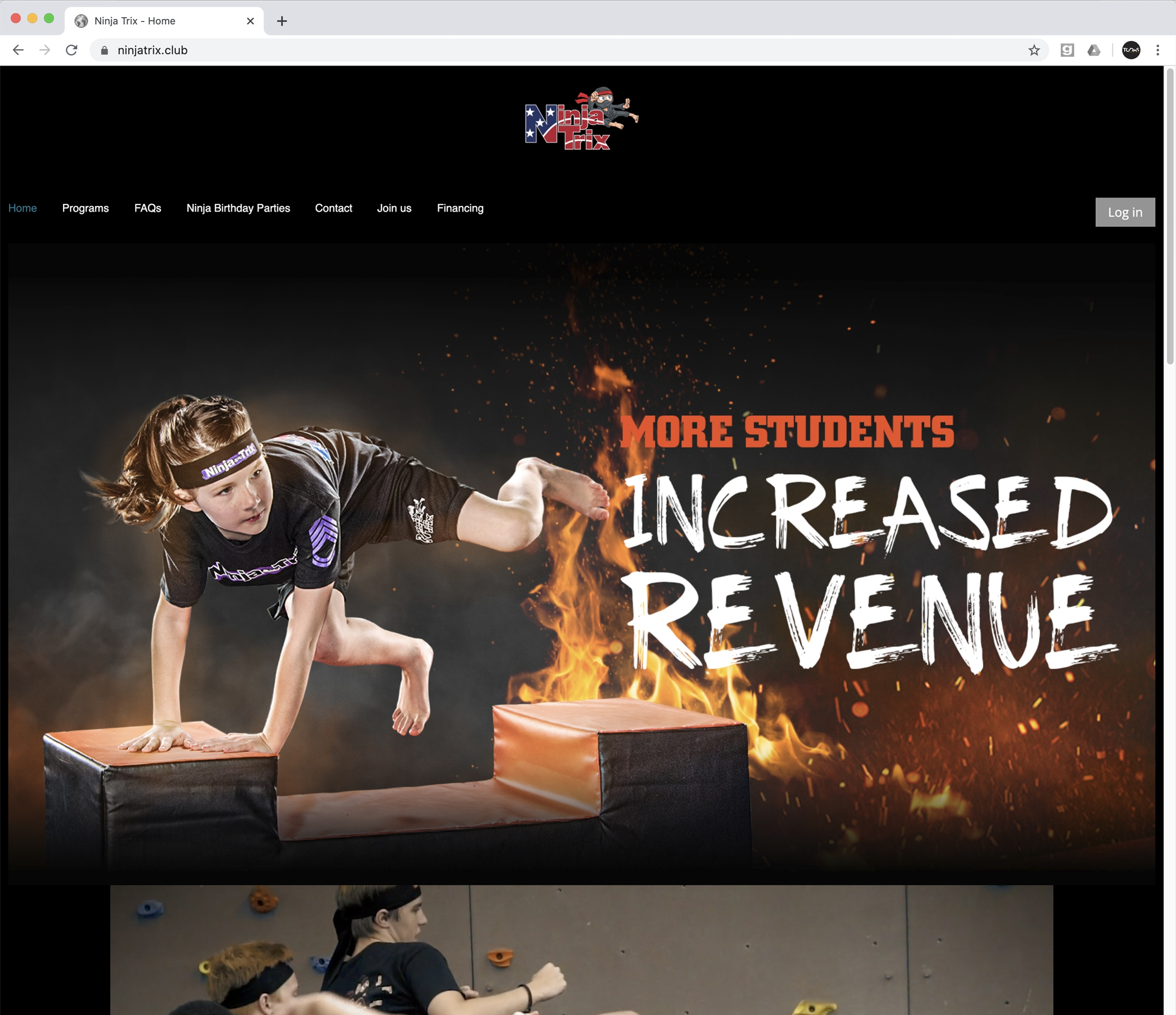 NinjaTrix, Web Design, Martial Arts, karate, taekwondo, jujitsu